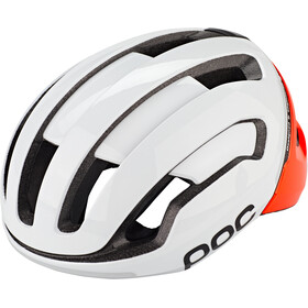 POC Omne Air Spin Kask rowerowy, biały/pomarańczowy